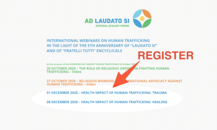 REGISTER & WEBINAR ON-DEMAND — 1 & 8 DEC AT 6 PM / HEALTH IMPACT OF HUMAN TRAFFICKING: TRAUMA & HEALING