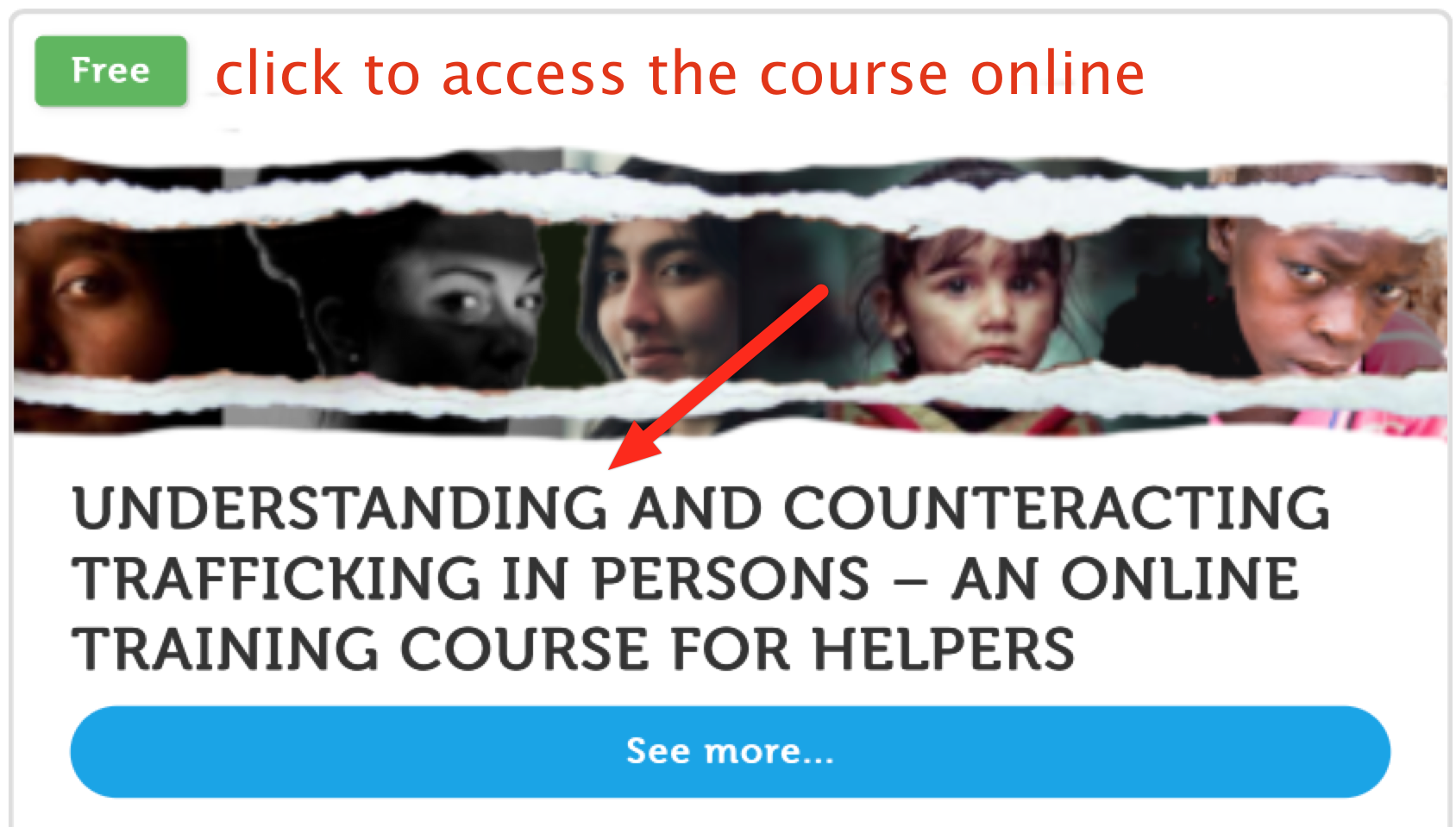 Access an online course on Hman Trafficking