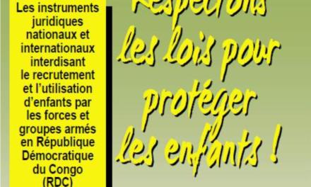 CONGO / Communauté Economique  des Pays des Grands Lacs : plus de 10.000 enfants se trouvent encore au sein des forces et groupes armés actifs en République démocratique du Congo…Respectons les lois pour protéger les enfants !