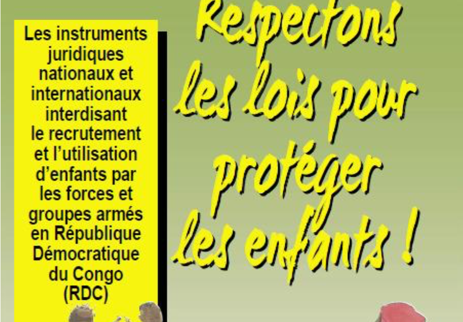 CONGO / Communauté Economique  des Pays des Grands Lacs : plus de 10.000 enfants se trouvent encore au sein des forces et groupes armés actifs en République démocratique du Congo…Respectons les lois pour protéger les enfants!