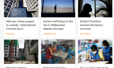 THOMSON REUTERS FOUNDATION — HUMAN TRAFFICKING NEWS
