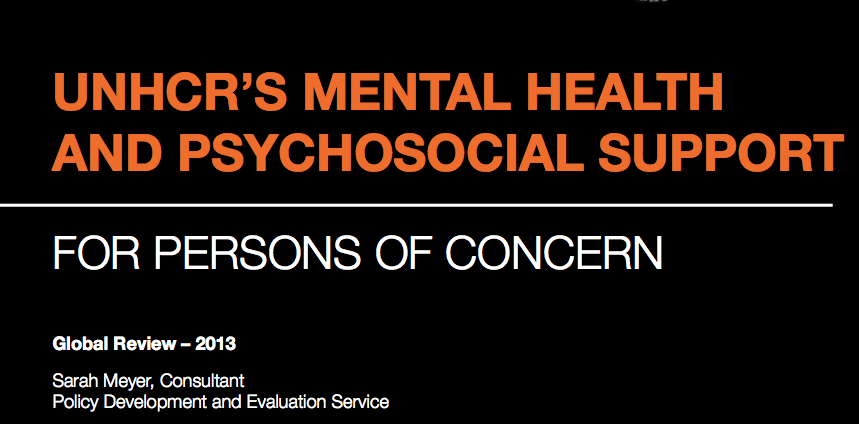 UNHCR's mental health and psychological support for persons of concern