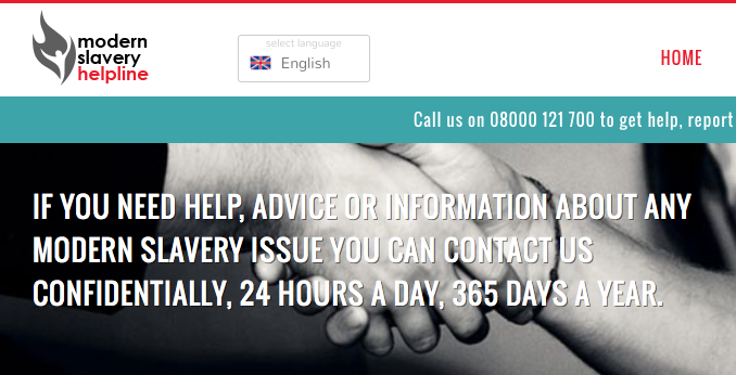 UK Modern Slavery Helpline and Resource Centre