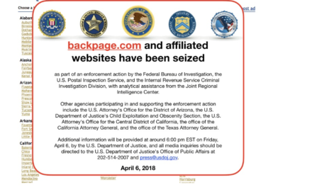 FEDERAL AND STATE authorities Friday seized Backpage.com, an online classifieds site frequently accused of facilitating sex trafficking