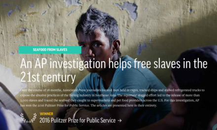 AP – Free Slaves Investigations won 2016 Pulitzer Price for Public Service