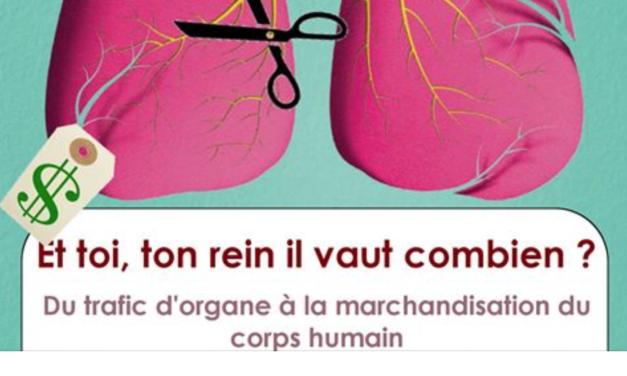 """""""And how much is your kidney worth? From organ trafficking to the merchandization of the human body"""" – Présentation du professeur Jean-Daniel Rainhornlors de l'évènement :  «Et toi, ton rein, il vaut combien? Du trafic d'organes à la marchandisation du corps humain» à l'École de Médecine CMU de l'Université de Genève le 25 avril 2018"""