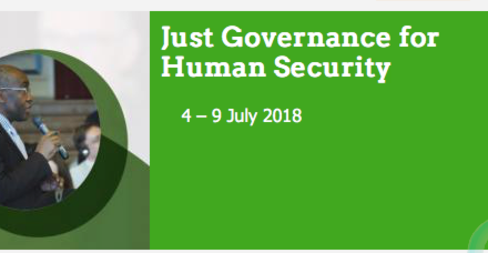 CAUX FORUM SWITZERLAND – JUST GOVERNANCE FOR HUMAN SECURITY Exploring our part in the Global Goals