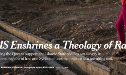 NY TIMES – ISIS Enshrines a Theology of Rape
