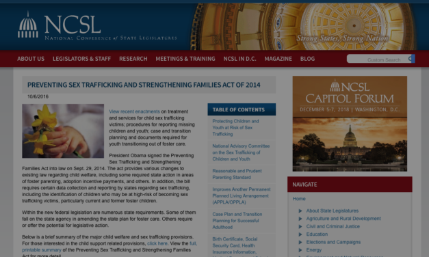 UNITED STATES – PREVENTING SEX TRAFFICKING AND STRENGTHENING FAMILIES ACT OF 2014