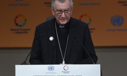 "Holy See's priorities for migrations : ""We must work together to create conditions that allow communities and individuals to live in safety and dignity in their own countries."" – Global Compact for Safe, Orderly and Regular Migration, Marrakech Dec. 2018"