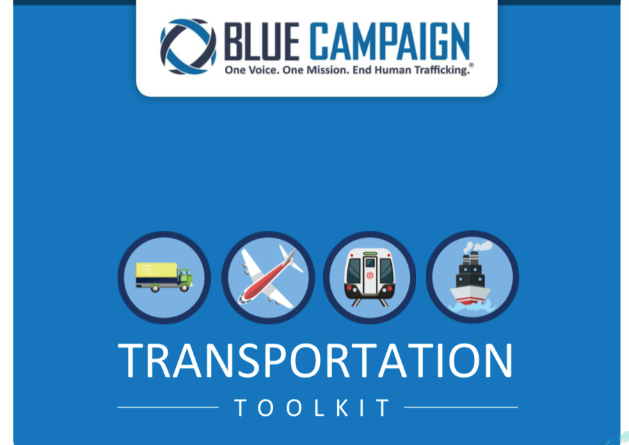 USA — BLUE CAMPAIGN — TRANSPORTATION TOOLKIT