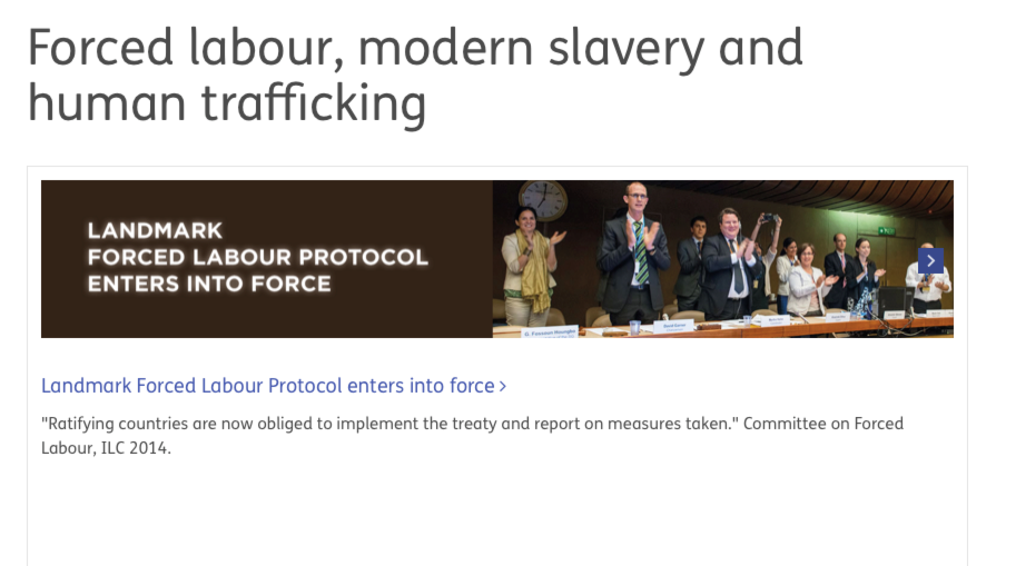ILO — Forced labour, modern slavery and human trafficking