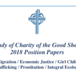 Our Lady of Charity of the Good Shepherd Position Papers Migration / Economic Justice / Girl Child Trafficking / Prostitution / Integral Ecology — ROME, 8–12 APRIL 2019 — CONFERENCE ON TRAFFICKING IN PERSONS