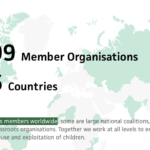 ECPAT is a worldwide network of organizations working to end the sexual exploitation of children. ECPAT has 109 members worldwide in 96 countries.