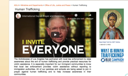 US CALIFORNIA — The Archdiocese of Los Angeles has partnered with local law enforcement to raise awareness about the evil of human trafficking and provide practical resources for victim assistance