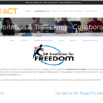 US CALIFORNIA Santa Barbara County – SBACT coordinates the SB Coalition for Freedom, a partnership between non-profits, government agencies, faith communities, and community members involved with fighting issues of local exploitation.