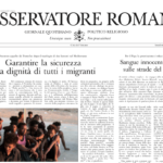 30 TH JULY – OBSERVATORE ROMANO – THE NUMBER OF TRAFFICKED VIC