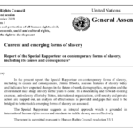 Current and emerging forms of slavery Report of the Special Rapporteur – UN GENEVA – Human Rights Council 9–27 September 2019