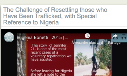 The Challenge of Resettling those who Have Been Trafficked, with Special Reference to Nigeria — Sr Eugenia Bonetti MC, President, Slaves No More