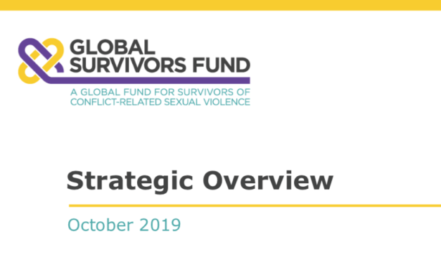 GLOBAL SURVIVORS FUND — In 2018, Dr. Denis Mukwege and Ms. Nadia Murad received the Nobel Peace Prize for their efforts to fight sexual violence as a weapon of war. Together they shared a vision to provide survivors of conflict-related sexual violence with reparations and other forms of redress