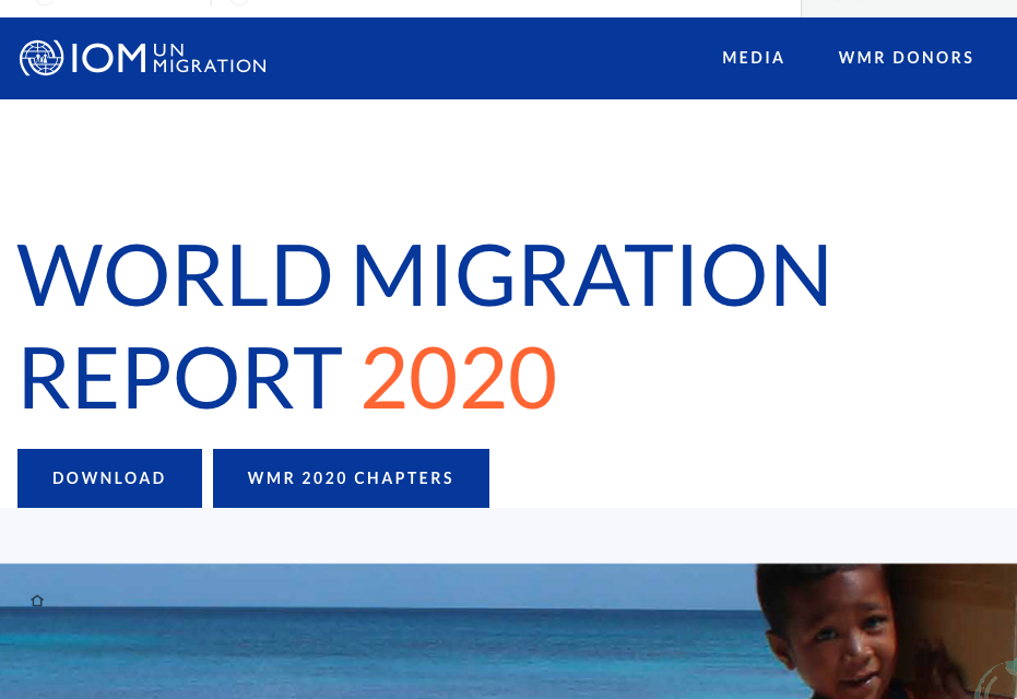 IOM – World Migration Report 2020
