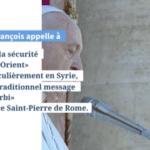 FIGARO – L'Afrique et les migrations vers l'Europe au cœur des préoccupations de François  Lors de la traditionnelle bénédiction urbi et orbi, le Pape a encouragé les difficiles pourparlers de paix au Soudan du Sud