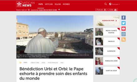 Bénédiction Urbi et Orbi: le Pape exhorte à prendre soin des enfants du monde