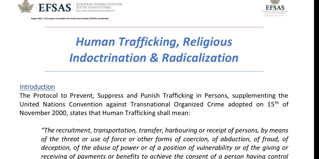 EFSAS: Human Trafficking, Religious Indoctrination & Radicalization