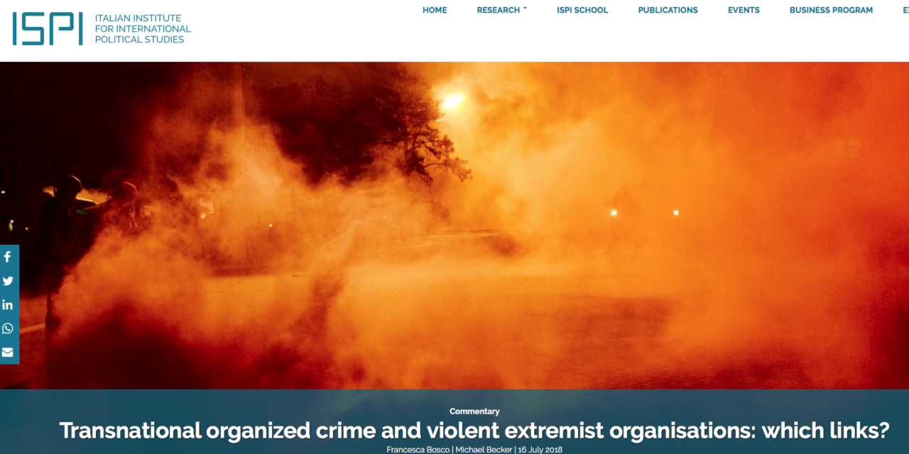 Transnational organized crime and violent extremist organisations: which links?