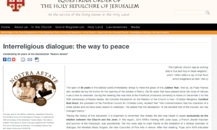 Interreligious dialogue: the way to peace