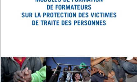 Modules de formation de formateurs sur la traite des personnes