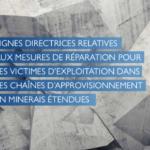 LIGNES DIRECTRICES RELATIVES AUX MESURES DE RÉPARATION POUR LES VICTIMES D'EXPLOITATION DANS LES CHAÎNES D'APPROVISIONNEMENT EN MINERAIS ÉTENDUES