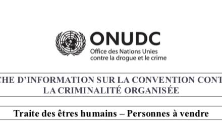 ONUDC – Traite des êtres humains – Personnes à vendre