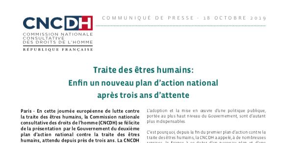 FRANCE – Traite des êtres humains: Enfin un nouveau plan d'action national après trois ans d'attente