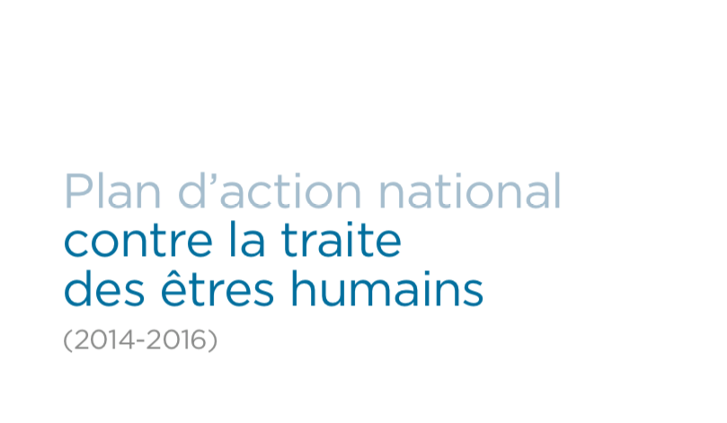 France — Plan d'action national contre la traite des êtres humains (2014–2016)