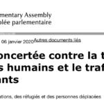 Action concertée contre la traite des êtres humains et le trafic illicite de migrants
