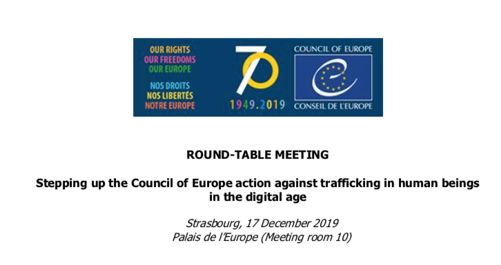 Stepping up the Council of Europe action against trafficking in human beings in the digital age