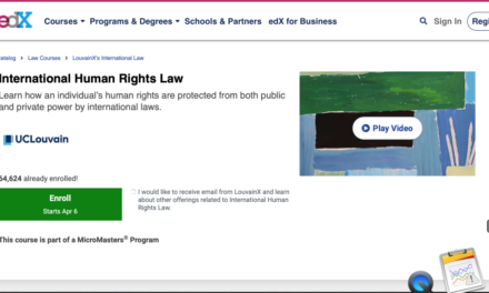 UNIVERSITY OF LOUVAIN – International Human Rights Law ONLINE COURSE