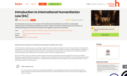 ICRC — Introduction to International Humanitarian Law (IHL) ONLINE COURSE