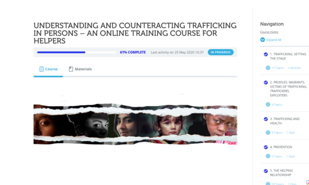 ONLINE COURSE ON HUMAN TRAFFICKING _ UNDERSTANDING AND COUNTERACTING TRAFFICKING IN PERSONS – AN ONLINE TRAINING COURSE FOR HELPERS