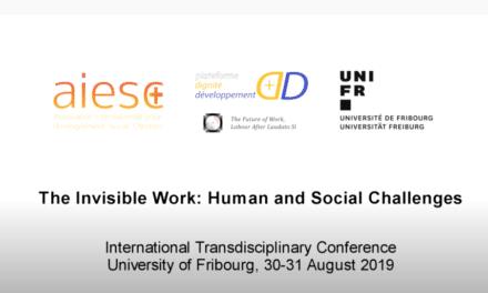 AIESC, Fribourg 30 août 2019 – Michel Veuthey – Esclavage moderne et traite des personnes (ASSOCIATION INTERNATIONALE POUR L'ENSEIGNEMENT SOCIAL CHRÉTIEN)