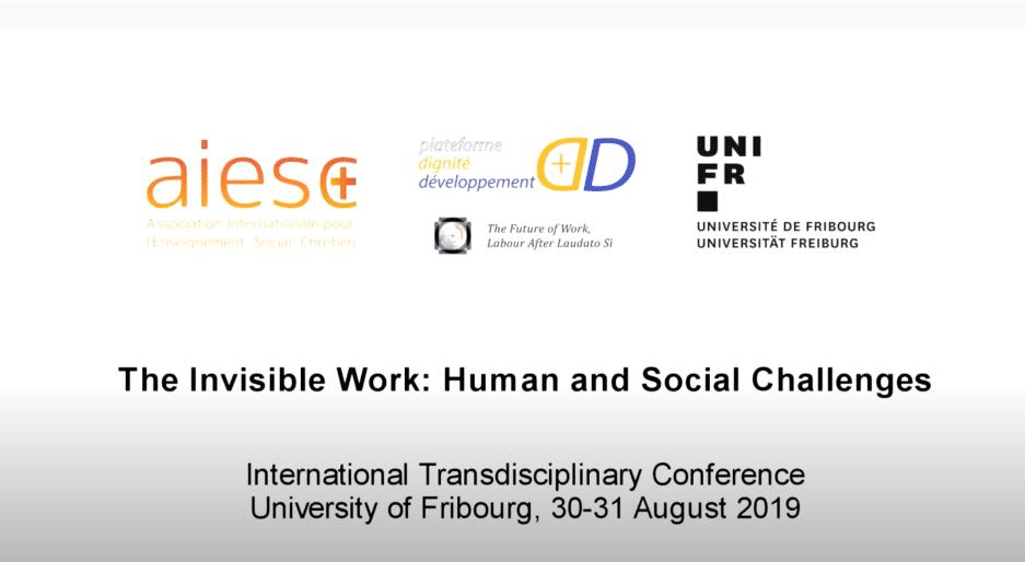AIESC, Fribourg 30 août 2019 — Michel Veuthey – Esclavage moderne et traite des personnes (ASSOCIATION INTERNATIONALE POUR L'ENSEIGNEMENT SOCIAL CHRÉTIEN)