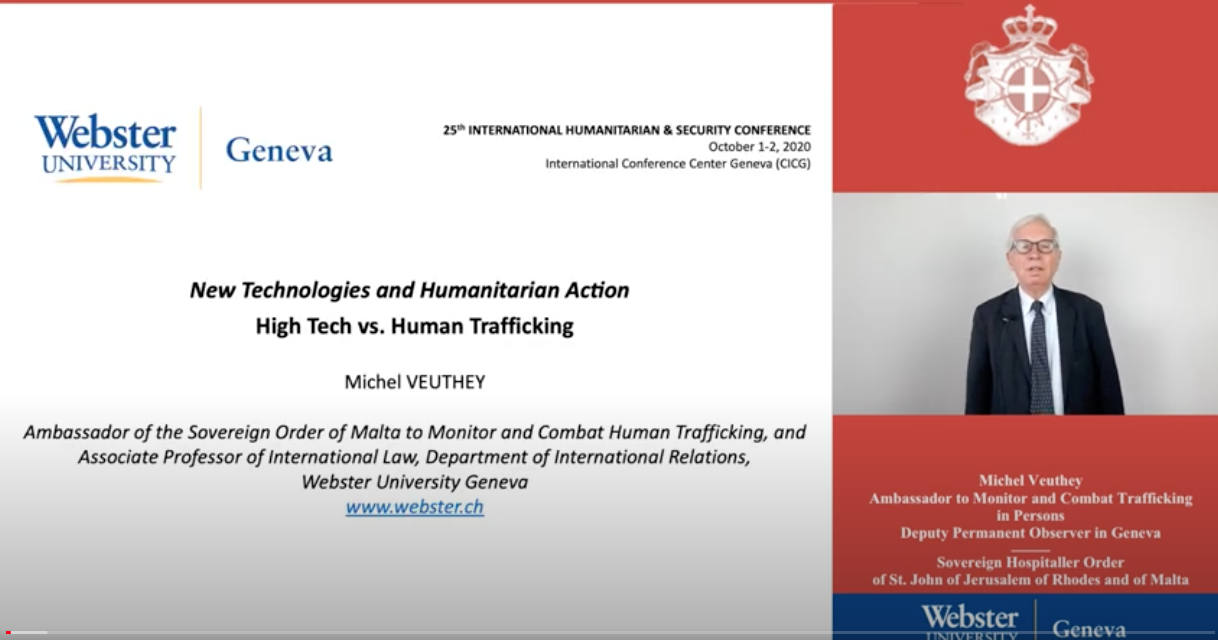 """Geneva Webster University Humanitarian and Security Conference — """"New Technologies and Humanitarian Action"""" — October 1–22020"""