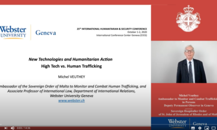 "Geneva Webster University Humanitarian and Security Conference – ""New Technologies and Humanitarian Action"" – October 1-2 2020"