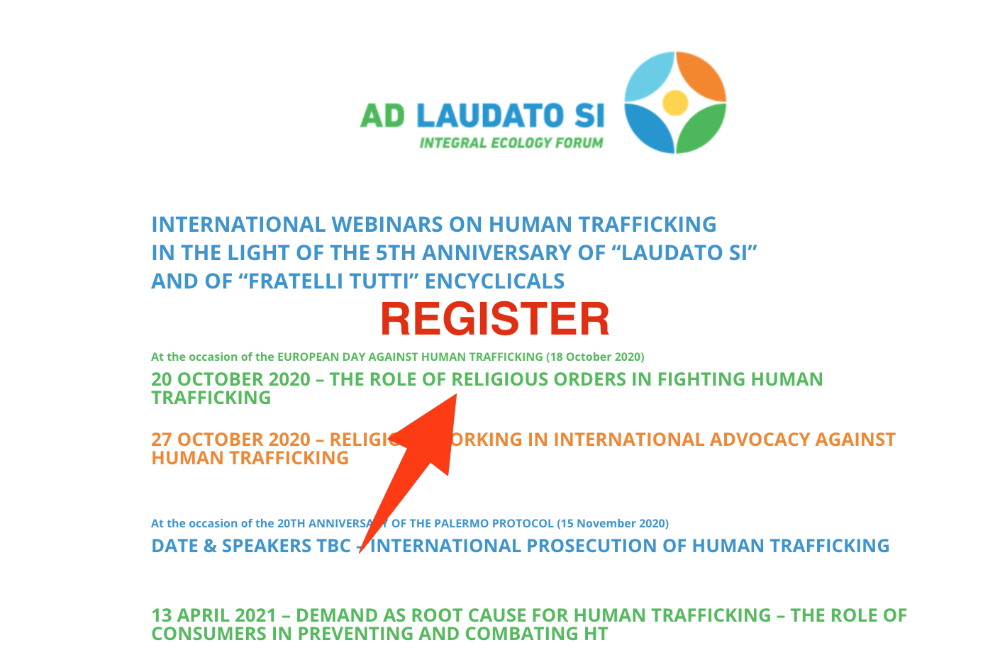 Access an online course on Hman Trafficking