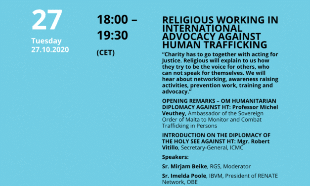 Religious Working In International Advocacy Against Human Trafficking (ON-DEMAND VIDEO WEBINAR)