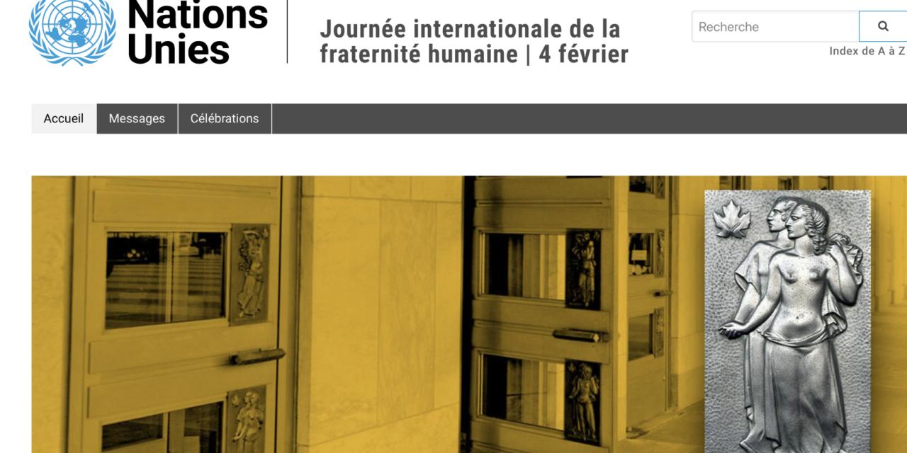 JOURNÉE INTERNATIONALE DE LA FRATERNITÉ HUMAINE — Message du Prof. Michel Veuthey, Ambassadeur de l'Ordre de Malte pour monitoire et lutter contre la traite de personnes