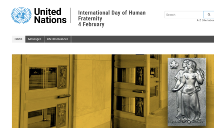 INTERNATIONAL DAY OF HUMAN FRATERNITY 2021 — Message from Prof. Michel Veuthey, Ambassador to monitor and combat trafficking in persons