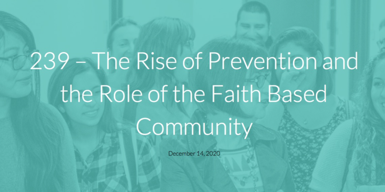 ARISE — The Rise of Prevention in Human Trafficking and the Role of the Faith Based Community