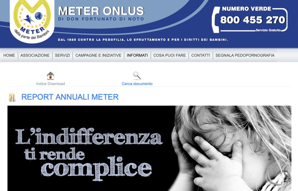 Report Meter 2020. La pedofilia, nuova forma di schiavitù per il traffico di minori